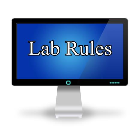 Rules for free computer lab use